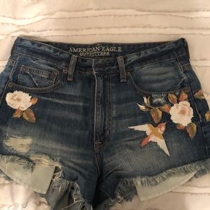 American Eagle Embroided Shorts
